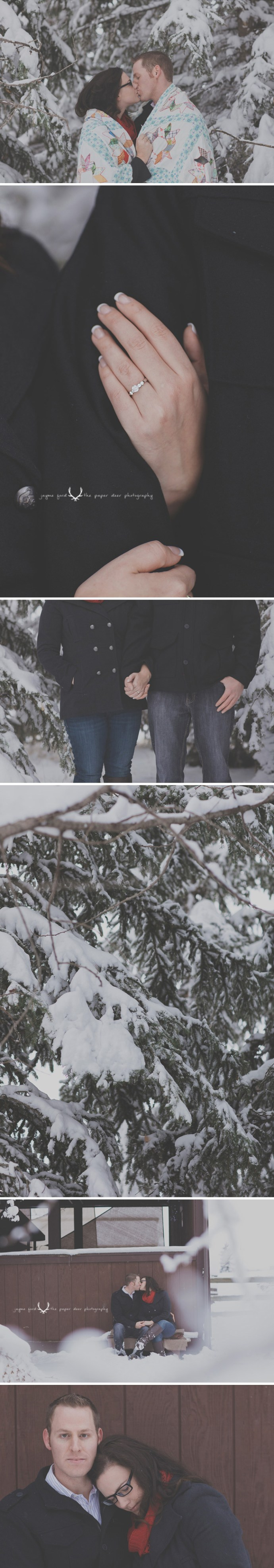 winter engagement ➾ ©The Paper Deer Photography ➾ paperdeerphoto.com/blog