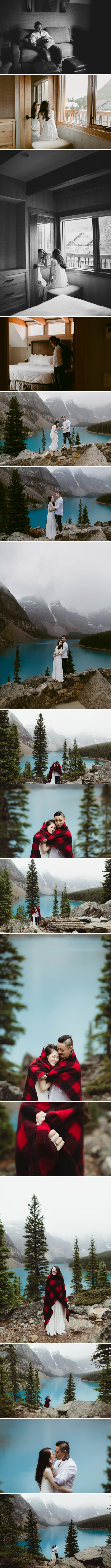 moraine lake elopement | ©The Paper Deer Photography | thepaperdeer.ca
