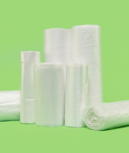 "24x24"" HDPE Liners, natural, 6 mic (1000/case)"