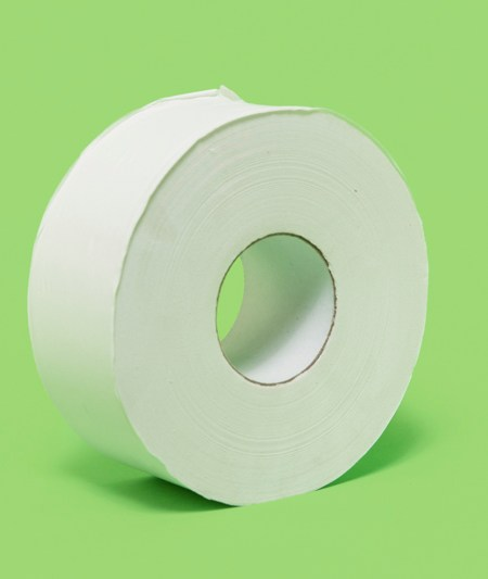 2PLY WHITE JUMBO ROLL TISSUE (12/case)