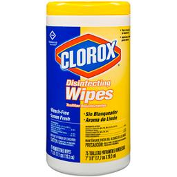 Clorox Disinfectant Wipes Lemon Scent (6/pack)