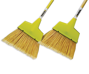 "54"" Plastic Upright Broom - Metal Handle"