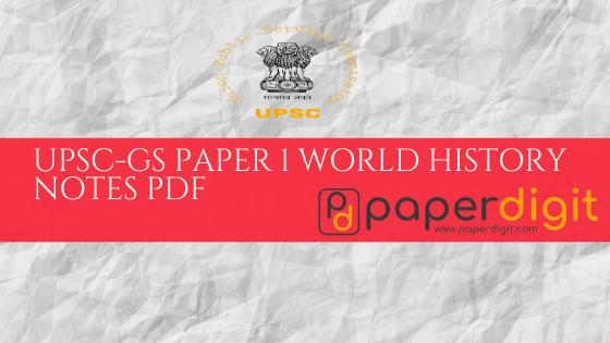 UPSC-STUDY NOTES