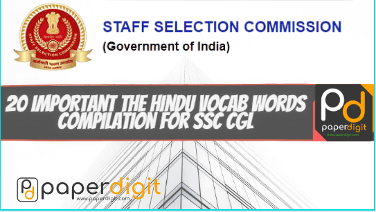 20 Important The Hindu Vocab Words Compilation For SSC CGL