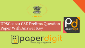 Question paper of UPSC 2020 CSE With Answer Key