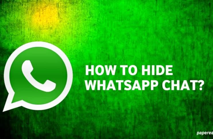 Hide WhatsApp chat