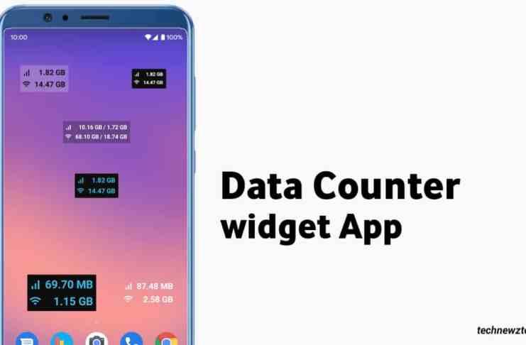 Data counter widget App