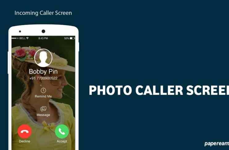 Photo Caller Screen App