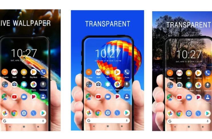 Set the Transparent Screen & Live Wallpaper App.