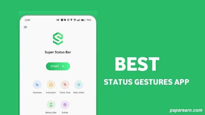 Super Status Gestures app