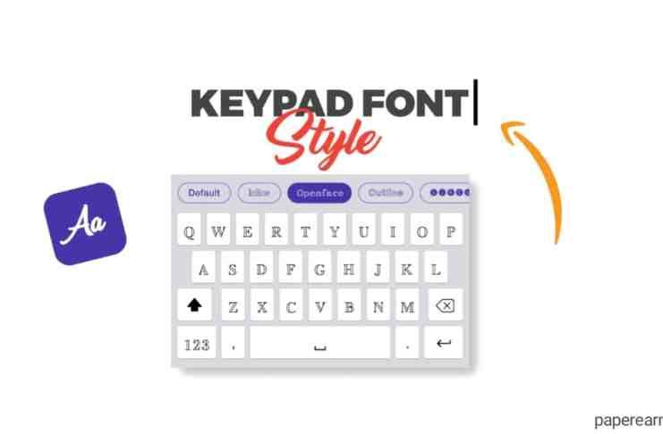 style fonts keyboard