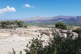 Sito archeologico di Festo dall'alto