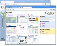 Chrome Web Browser Screenshot