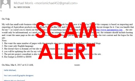 Web Design Project Scam