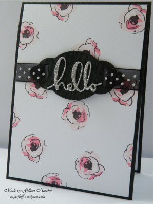 AN painted flowers pink card