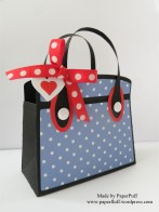kensington bag blue dotty side view