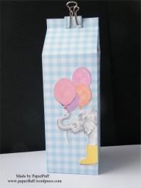 milk carton gingham blue