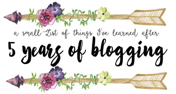 5 years blogging
