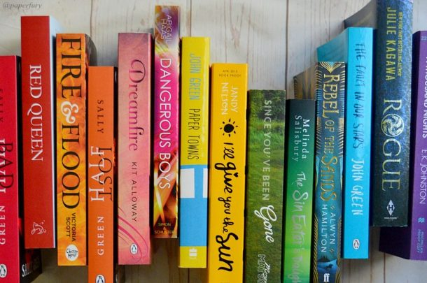 rainbow bookish wave - close up