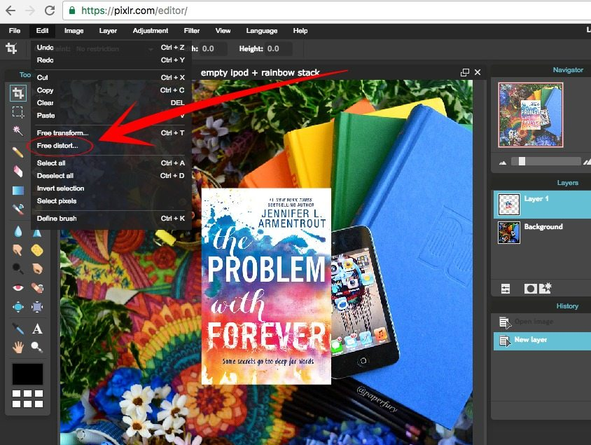 Book Cover Tutorial Pixlr : Tutorial how to photograph ebooks using free photo