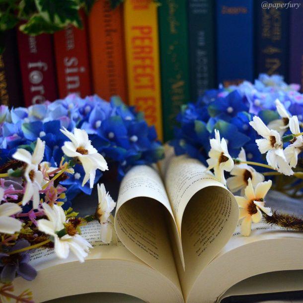 rainbow + book heart