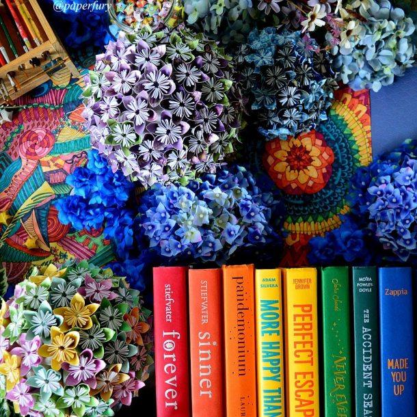 rainbow books + globes