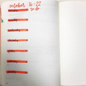 Bullet Journal Sample Weekly Layout, The Paper Gazer