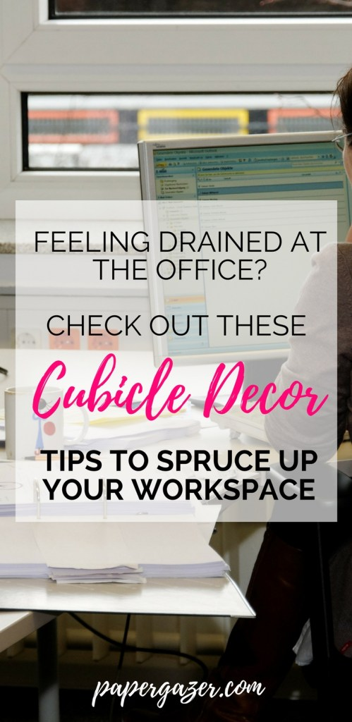 Is your office drab and boring? Try decorating your cubicle and workspace with these decor options! Not only will these ideas help you stay organized, but this simple hack can keep you motivated and energized at work. Now go be productive and kick-ass! #organization