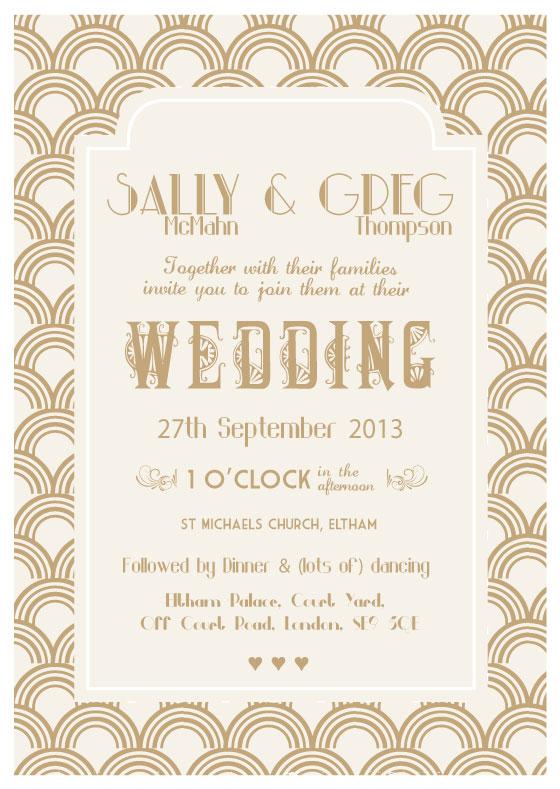 The Great Gatsby Wedding Invitation