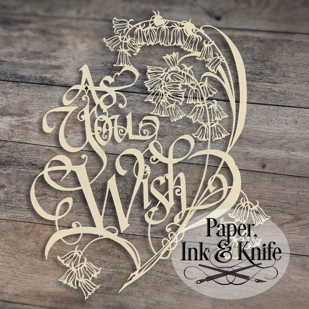 As You Wish 1 Papercut Template Paper Ink And Knife