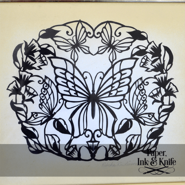 Butterflies Papercut Template Paper Ink And Knife