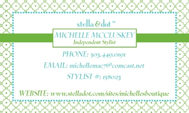Stella & Dot Biz Card