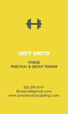 Joey Smith Biz Card