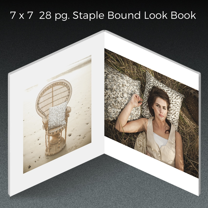 staple bound look book
