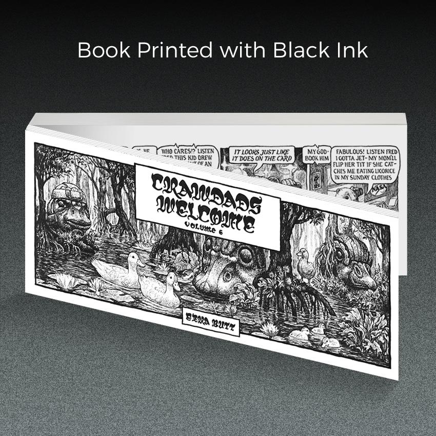 book printing with black ink