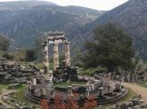 Athena's sanctuary in Delphi, Greece