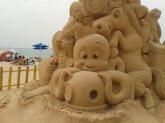 'The Beach' sand sculpture