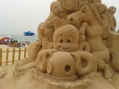 'The Beach' sand sculpture