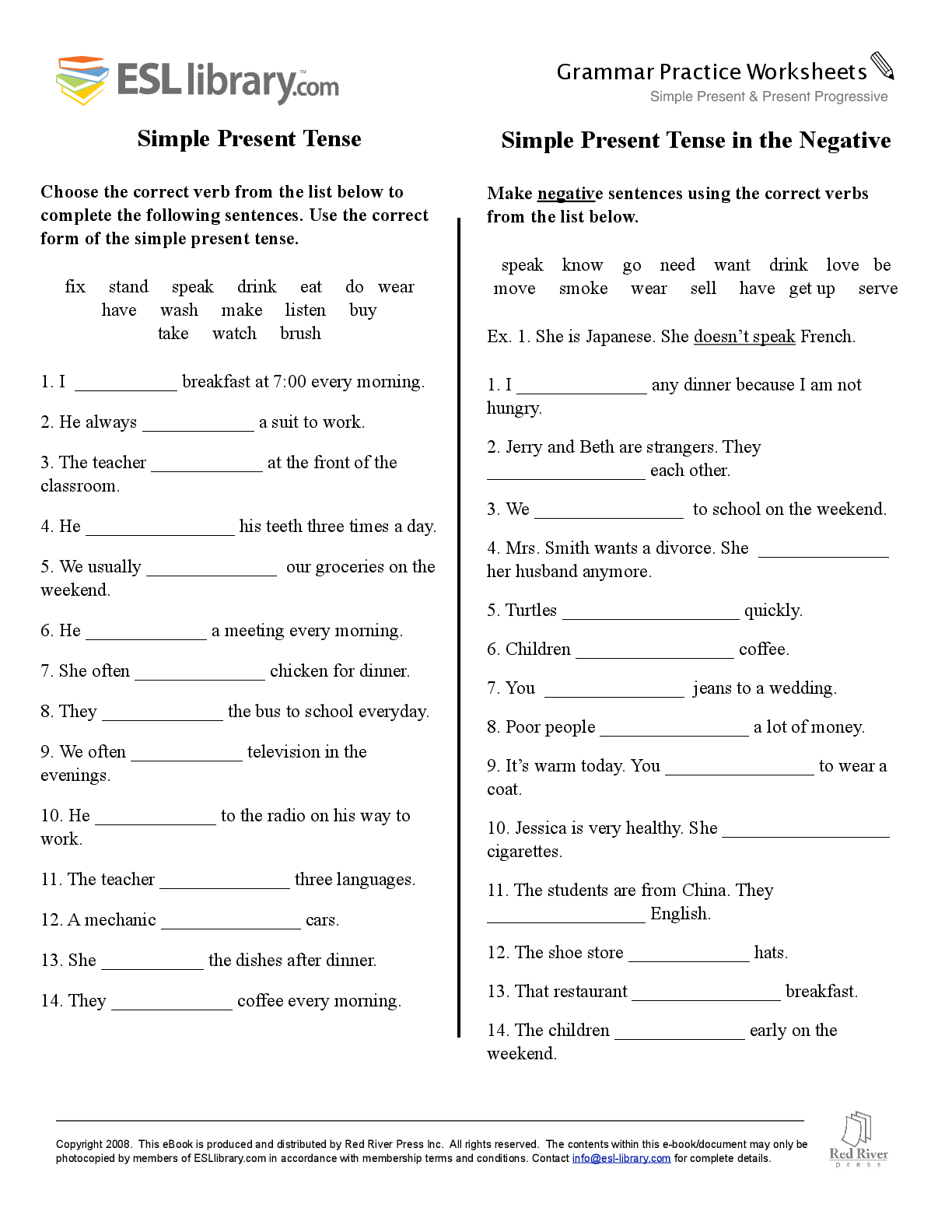 Simple Future Tense Worksheets With Answers