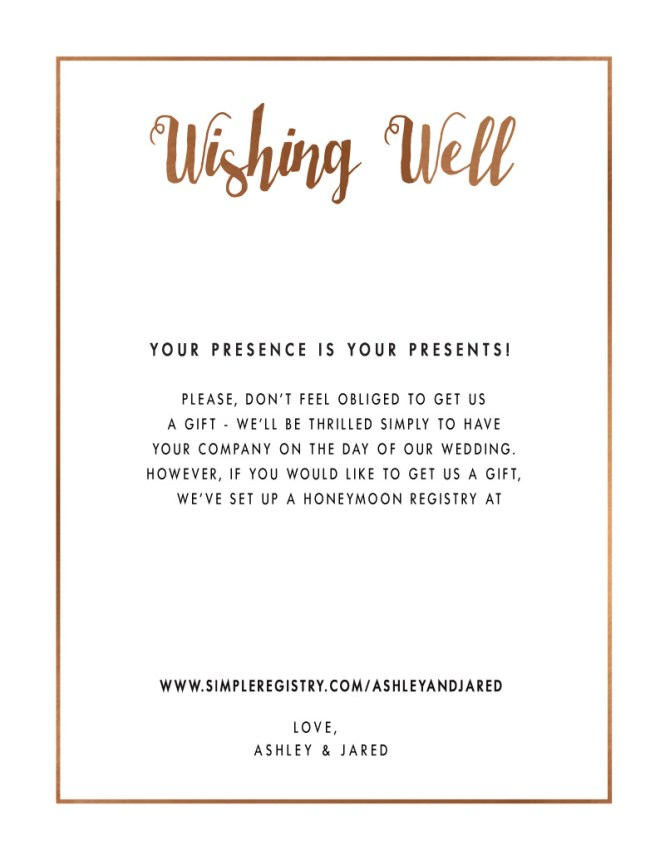 Wishing Well Poems For Wedding Invites | PaperInvite