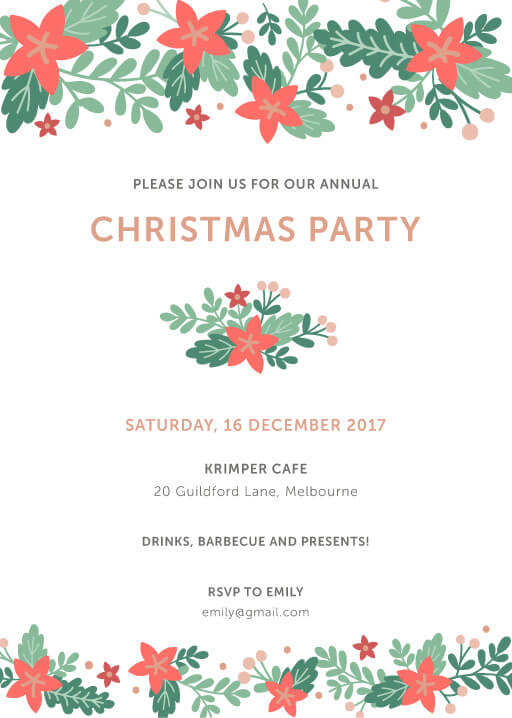 Happy Holidays In DP Christmas Party Invitations