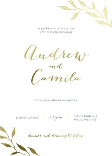 Canada Wedding Invitations Designs By Creatives