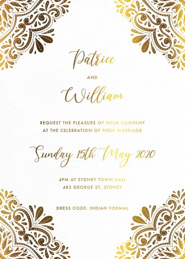 Indian Wedding Cards Invitation