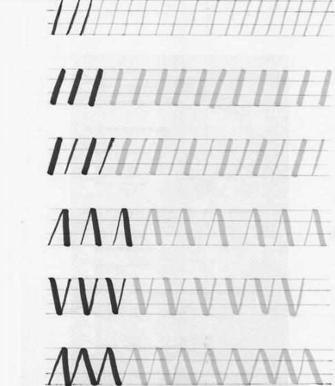 Primeros trazos lettering