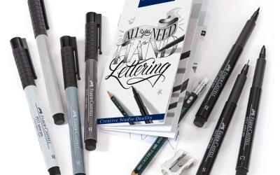 Dale ese estilo único a tus creaciones con este kit lettering con tonos de negro