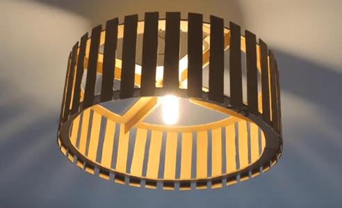 Lámparas de techo con cartón