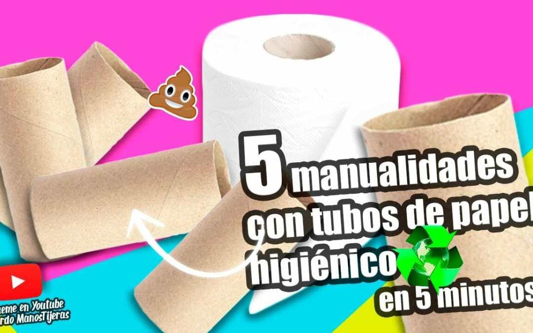 Recicla: Manualidades con tubos de papel higiénico