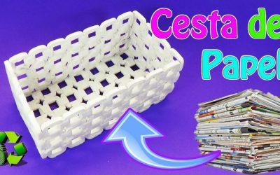 Reciclaje: Cestas de periódico para organizar – Paso a paso