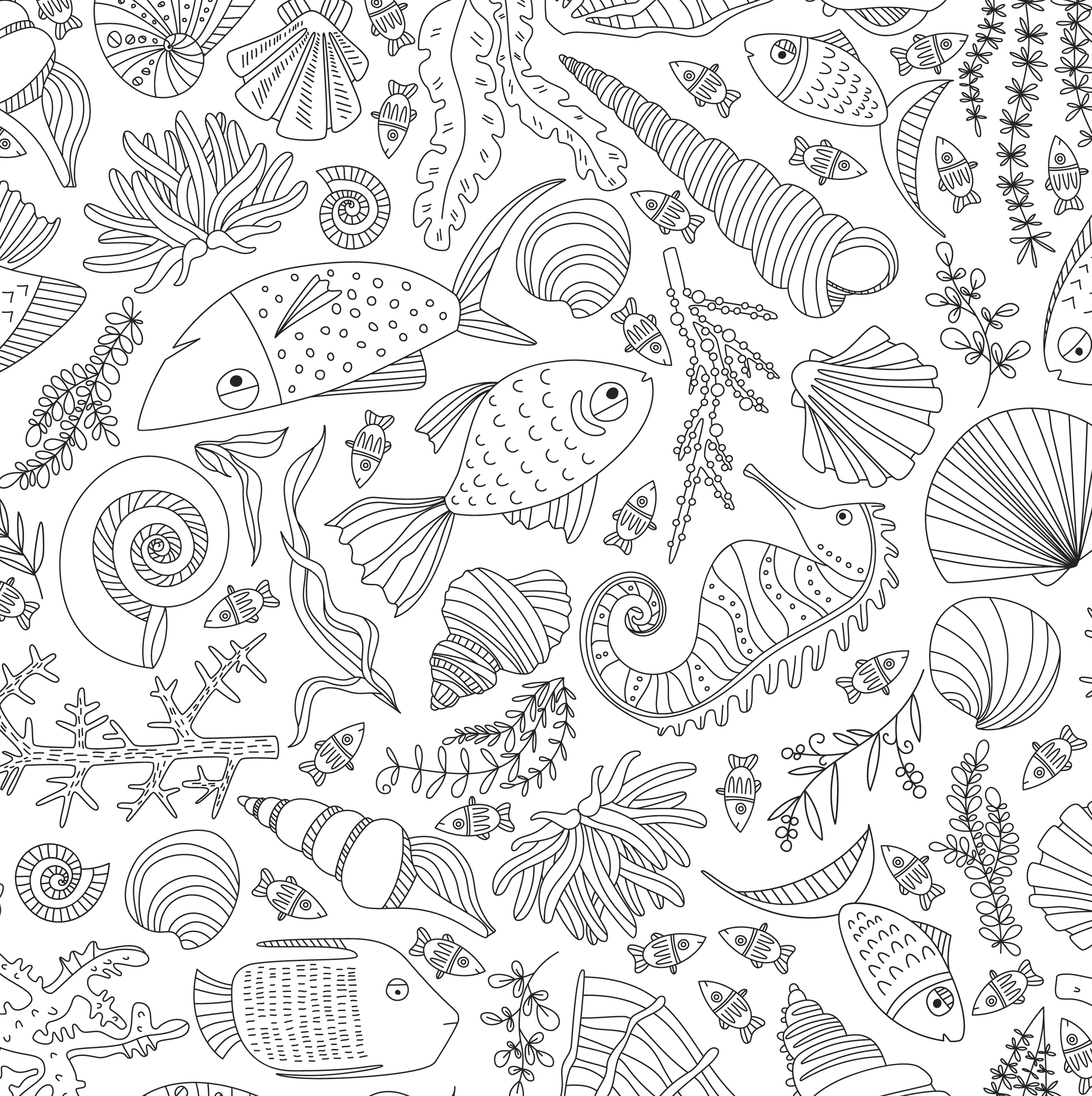 Ocean Designs Artist S Coloring Book