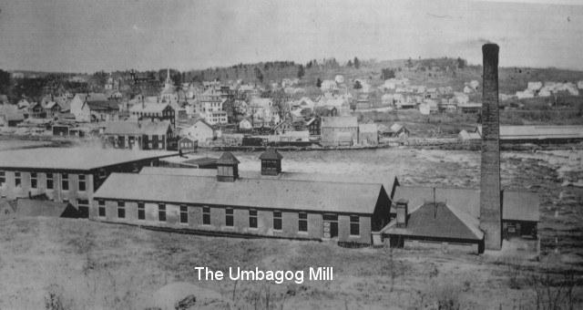 Umbagog Mill in Livermore Falls circa 1880